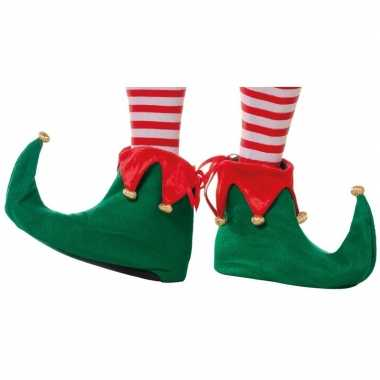 Groene elfen schoenen voor volwassenen
