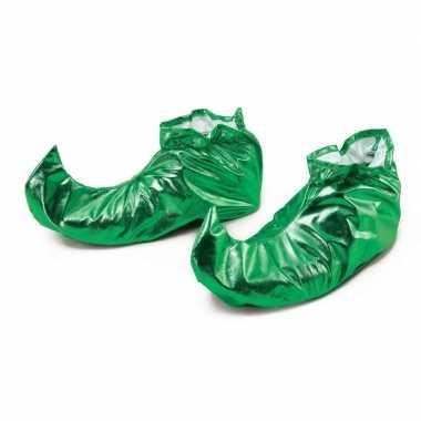 Groene metallic elfen schoenen voor volwassenen