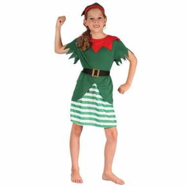 Kerstelf kostuum voor meisjes 10053227