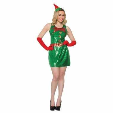 Sexy kerstelf jurkje met pailletten voor dames